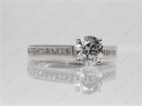 White Gold 1.10 Round cut Channel Set Rings