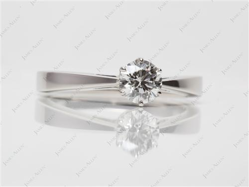 Platinum 0.56 Round cut Diamond Solitaire Engagement Ring