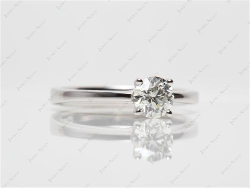 Platinum 0.58 Round cut Diamond Ring