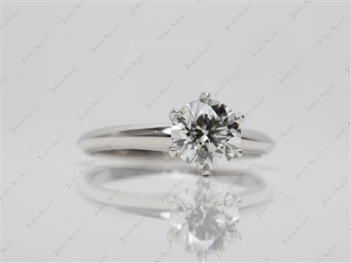 Platinum 1.23 Round cut Solitaire Ring Designs