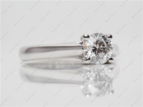 White Gold 0.73 Round cut Solitaire Ring Mountings
