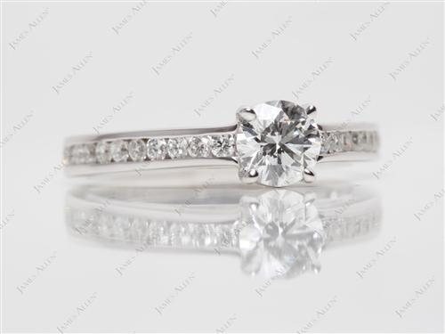 White Gold 0.52 Round cut Channel Ring