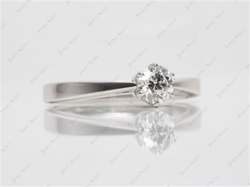Platinum 0.51 Round cut Solitaire Ring Designs