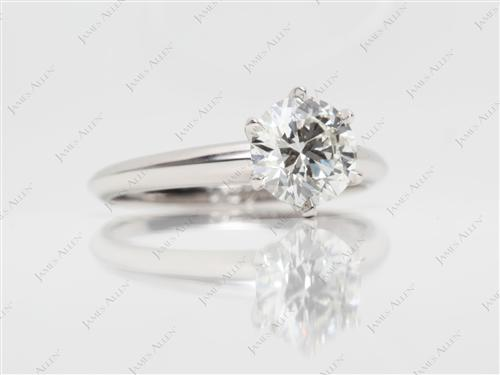 Platinum 1.21 Round cut Diamond Engagement Solitaire Rings
