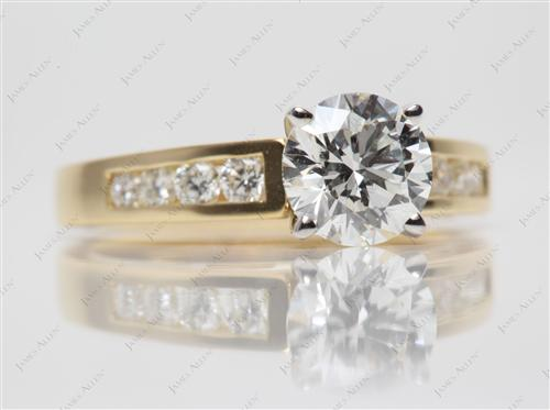 Gold 1.21 Round cut Platinum Wedding Sets