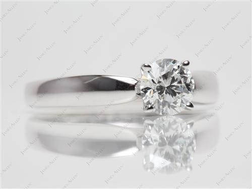 White Gold 0.92 Round cut Solitaire Ring Designs