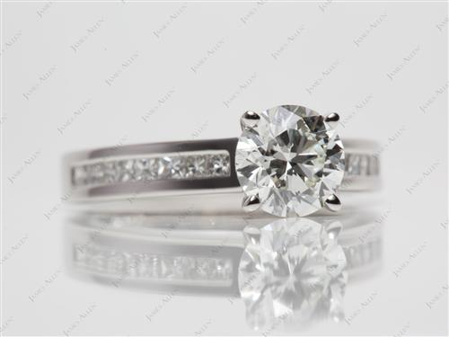 Platinum 1.26 Round cut Channel Set Diamond Band