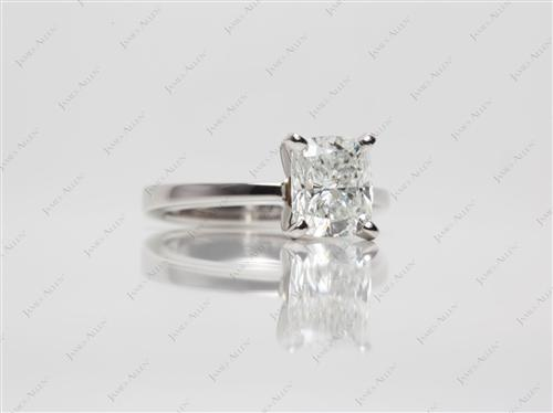 Platinum 1.41 Cushion cut Solitaire Ring Settings
