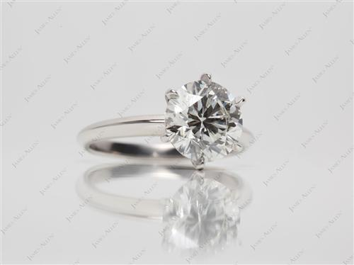 Platinum 2.20 Round cut Solitaire Rings