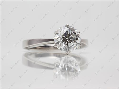 Platinum 2.04 Round cut Engagement Ring