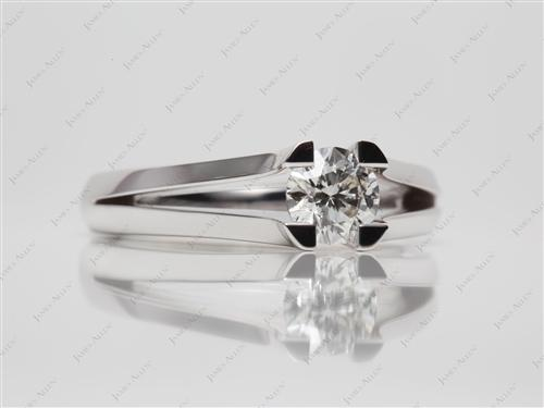 White Gold 0.70 Round cut Tension Set Diamond Ring