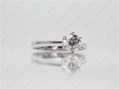 White Gold 0.80 Round cut Solitaire
