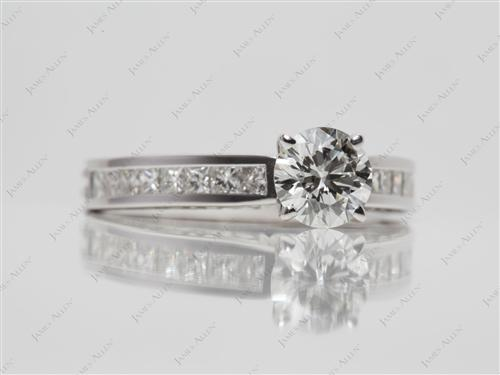 White Gold 0.80 Round cut Channel Set Diamonds