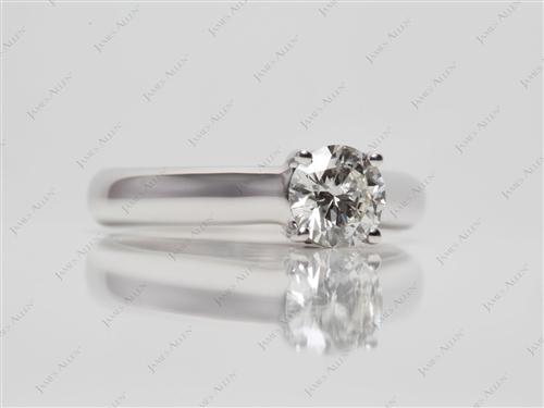 White Gold 0.63 Round cut Solitaire Ring Designs