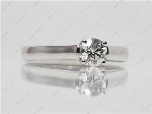 Platinum 0.55 Round cut Solitaire Ring Mountings