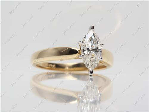 Gold 1.16 Marquise cut Diamond Solitaire Ring Settings