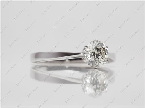 White Gold 1.04 Round cut Solitaire