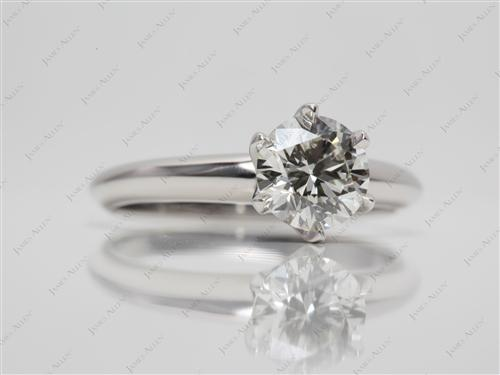 Platinum 0.80 Round cut Diamond Rings