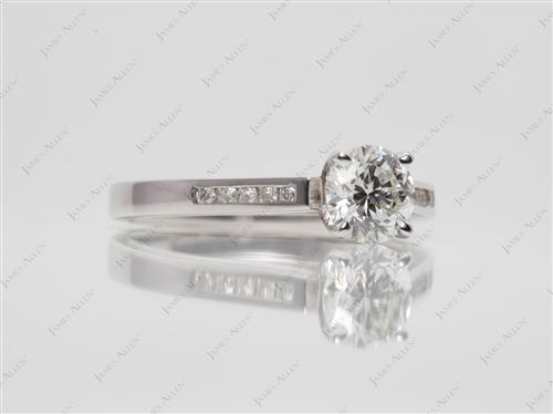 White Gold 0.73 Round cut Channel Set Diamonds