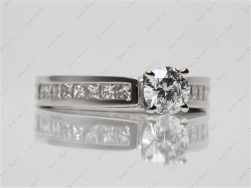 Platinum 0.50 Round cut Channel Set Diamond Band