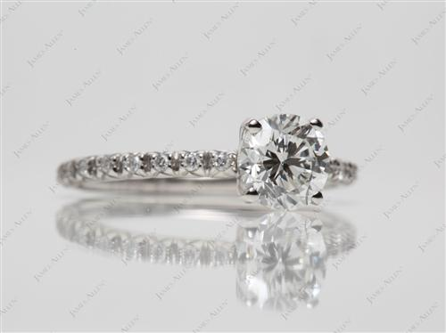 Platinum 1.01 Round cut Wedding Ring Sets