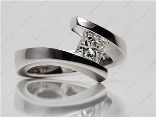 White Gold  Tension Rings