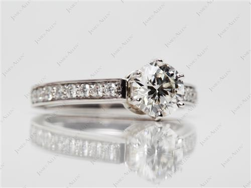 White Gold 1.11 Round cut Diamond Ring