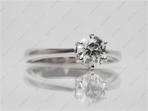 White Gold 0.83 Round cut Solitaire Diamond Ring