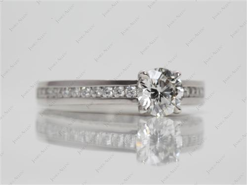 Platinum 0.71 Round cut Channel Set Rings