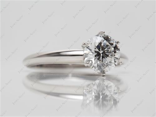 Platinum 1.22 Round cut Engagement Rings