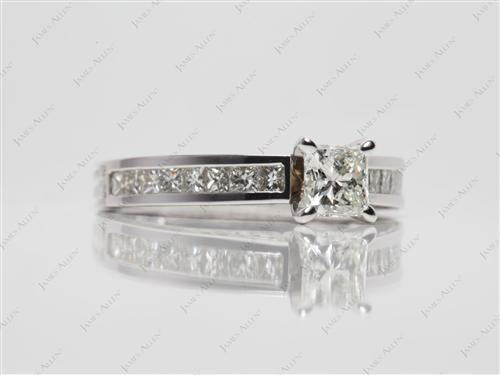 White Gold  Channel Set Diamonds