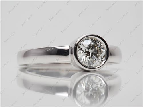White Gold 0.60 Round cut Diamond Tension Rings