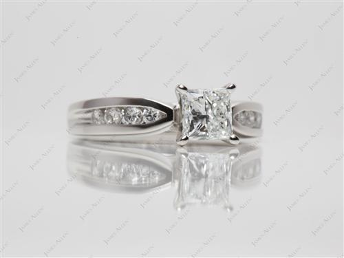Platinum 0.91 Princess cut Channel Set Diamonds