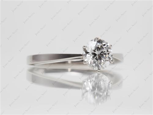 Platinum 1.07 Round cut Solitaire Engagement Rings