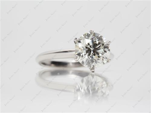 Platinum 2.40 Round cut Solitaire Ring Settings
