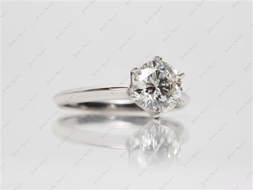 Platinum 1.50 Round cut Solitaire Ring Designs