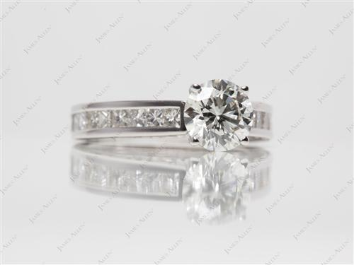 White Gold 1.03 Round cut Channel Set Rings
