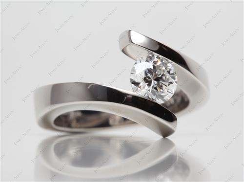 Platinum 1.10 Round cut Diamond Rings