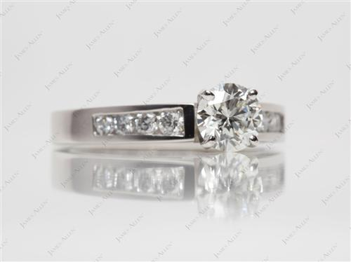 Platinum 0.90 Round cut Wedding Band Sets