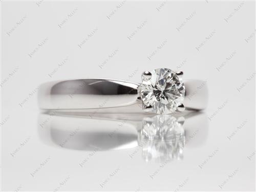 White Gold 0.59 Round cut Solitaire Ring