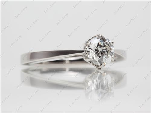 Platinum 0.72 Round cut Engagement Rings