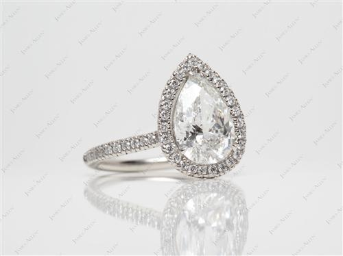 Platinum 2.13 Pear shaped Diamond Ring