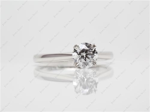 Platinum 0.71 Round cut Solitaire Ring Setting