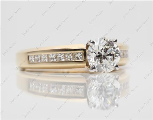 Gold  Channel Set Engagement Ring