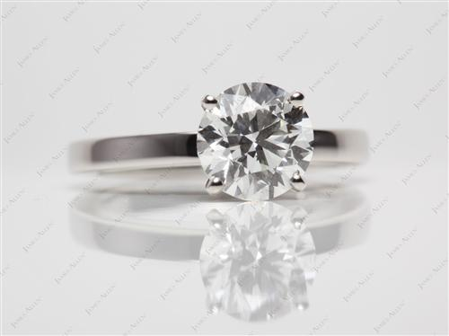 Platinum 2.04 Round cut Solitaire Ring Designs