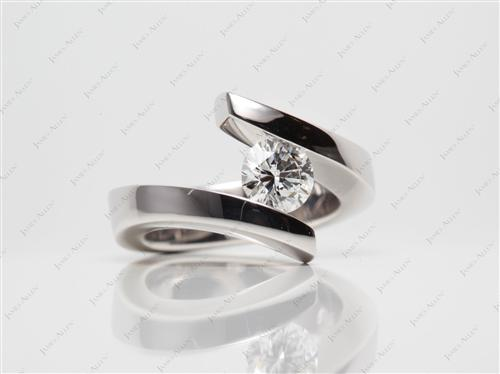 White Gold 0.70 Round cut Diamond Ring