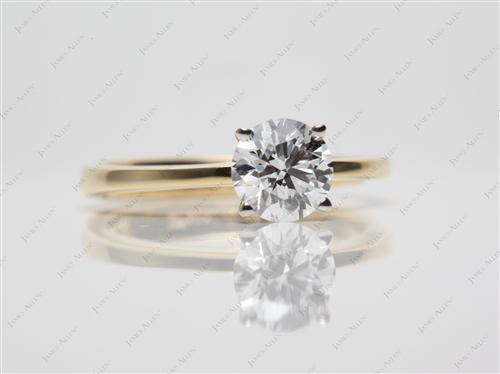 Gold 0.85 Round cut Diamond Rings