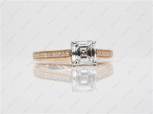 Gold  Pave Ring Settings