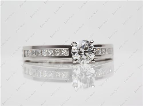 Platinum 0.56 Round cut Channel Cut Ring