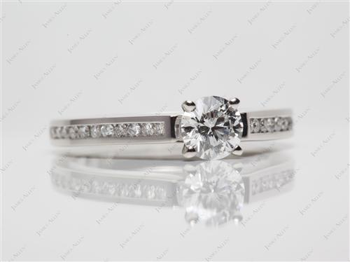 Platinum 0.59 Round cut Channel Set Rings